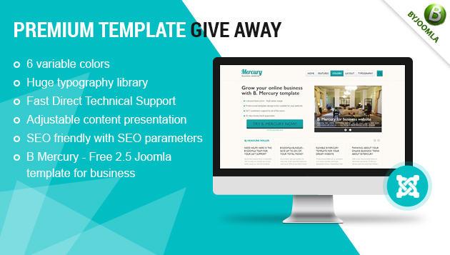 Premium Template Give-Away and B. Mercury, Quickstart click by click Venus, Venus Joomla 2.5 Templates